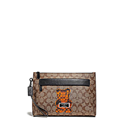 'Carry all Pouch' Mens Bag in Brown by Coach at Ingolstadt Village
