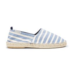 Blue striped espadrilles