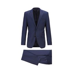 BOSS dark blue Huge5/Genius3 suit from Bicester Village
