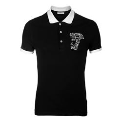 Versace WHITE, BLACK Medusa polo from Bicester Village