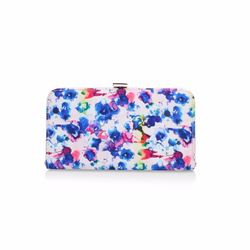 Ditsy multi-colour clutch