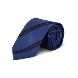 Tie 'Double Bar' in blue by Hackett at Ingolstadt Village