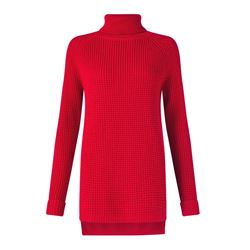 Jigsaw Knit polo neck in red