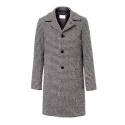 Long printed Manchester coat