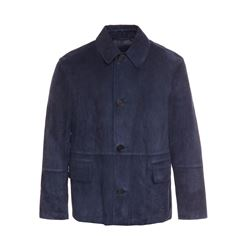 dunhill  Cropped suede car coat from Bicester Village