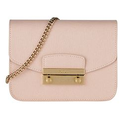 Furla - Light pink mini bag with gold zip