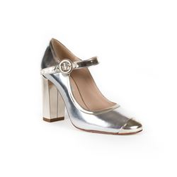 Silver Mary Jane shoes