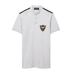 Grey Polo With Crest