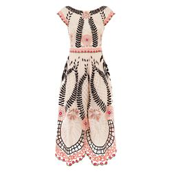 Temperley London midi belle shell mix dress
