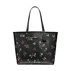 Coach Cross Stitch Floral Reversible City Tote