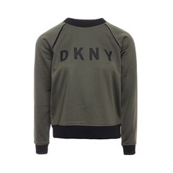 DKNY Khaki Army logo sweater from Bicester Village