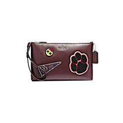 Coach   Varsity patches wristlet oxblood from Bicester Village