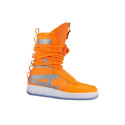 Nike Men's Orange Air Force 1 High Zip