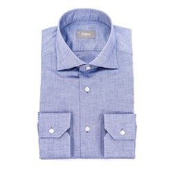 Camisa basic blue Zegna