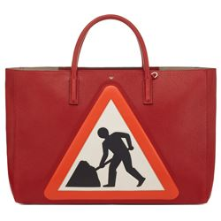 Anya Hindmarch ebury maxi men at work in red