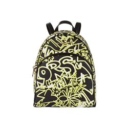 Michael Kors Neon Yellow Abbey MD Backpack