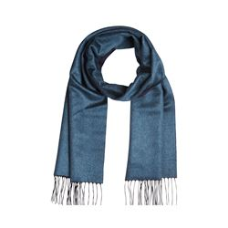 dunhill  Double face scarf teal from Bicester Village