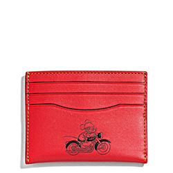 Men's slim card case in leather featuring Mickey by Coach at Ingolstadt Village