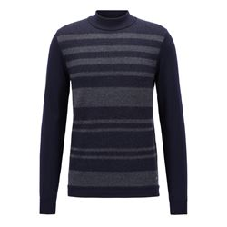 Hugo Boss Men's Dark Blue Edgarro Knitwear