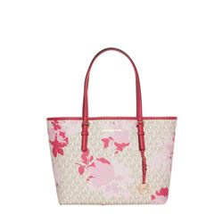 Michael Kors 'Camo Rose' Jet Set Travel Tote in pink and white at Ingolstadt Village