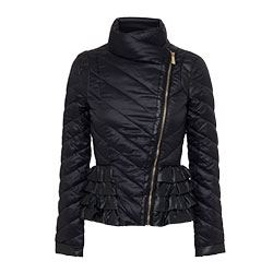 Pinko -Black Puffy jacket with zip
