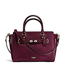 Coach burgundy carryall bag