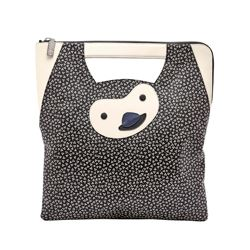 Fossil black and white animal bag