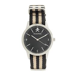 Scalpers - Silver watch with striped strap