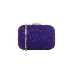Sergio Rossi   Purple hard clutch  from Bicester Village