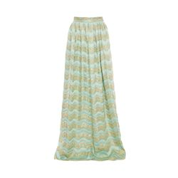 Temperley London Aqua  Long vevre skirt from Bicester Village