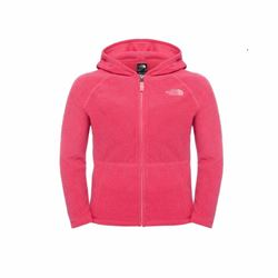The North Face Youth full zip fleece in pink