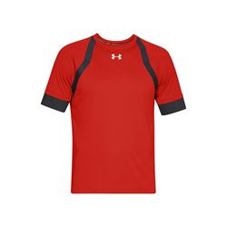 Under Armour Men's Radio Red Ultralight fabric Hexdelta Shortsleeve