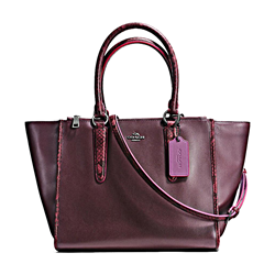 Coach  Exotic tirm crossbody carryall oxblood from Bicester Village