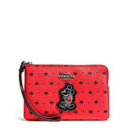 Clutch 'Mickey Prairie Bandana Corner Zip' in Rot von Coach in Wertheim Village