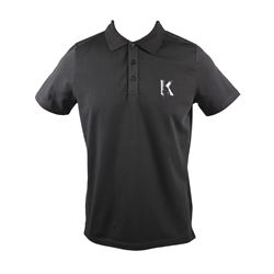 Polo-Shirt in Schwarz by KARL LAGERFELD MEN at Wertheim Village