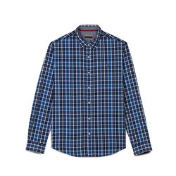 Blue checked men's shirt