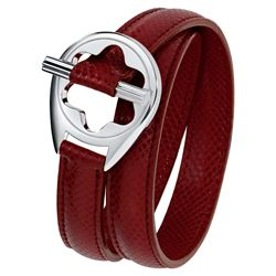 Mont Blanc women's red Leather Bracelet