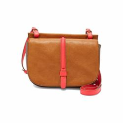 Collette small cross-body cashew satchel