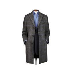 Wool epsom overcoat