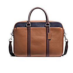 Slim brief 'Perry' in Braun von Coach in Wertheim Village