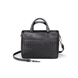 Bottega Veneta, Black Intrecciato leather bag