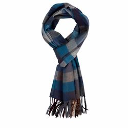 Savoy Taylors Guild Blue check scarf