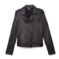 Leather Effect Casual Jacket