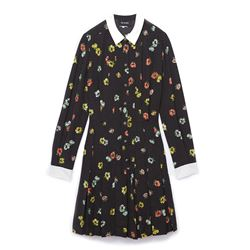 The Kooples Flowery Black Dress