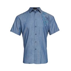 Armani  Blue shirt with floral detail from Bicester Village