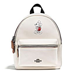 Damen-Rucksack 'Mickey Leather Mini Charlie' in Weiß von Coach in Wertheim Village