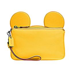 Mickey Leather Ear Wristlet