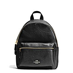 Coach black mini backpack