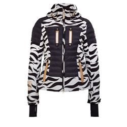 Women's ski jacket with zebra pattern
