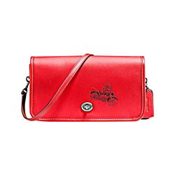 Coach Bright Red Mickey Leather Penny Crossbody from Bicester Village
